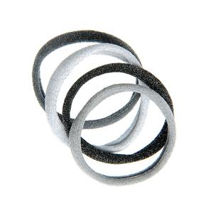Set 4 elastice par nuante gri