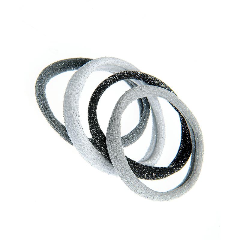 Set-4-elastice-par-nuante-gri