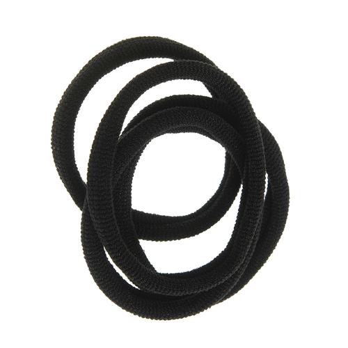 Set 4 elastice negre, subtiri