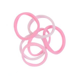 Set 6 elastice par nuante roz