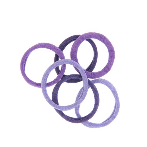 Set 6 elastice par nuante mov