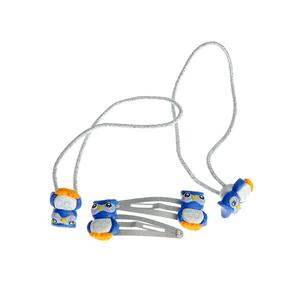 Set 4 accesorii par bufnite albastre