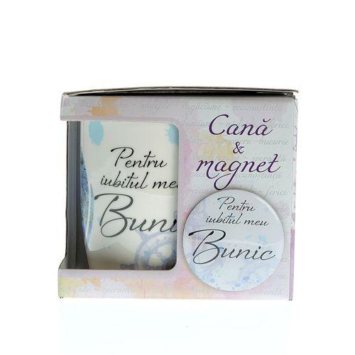Cana si magnet cadou pentru bunic