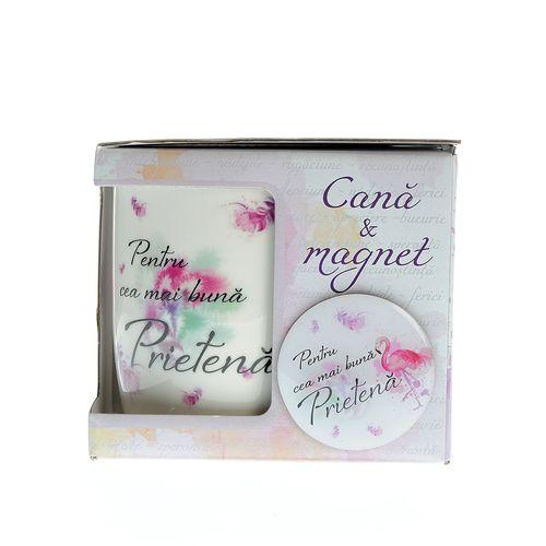 Cana si magnet cadou pentru prietena