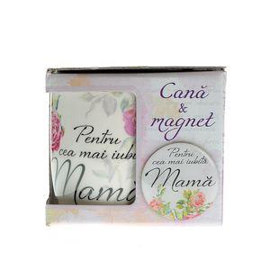 Cana si magnet cadou pentru mama