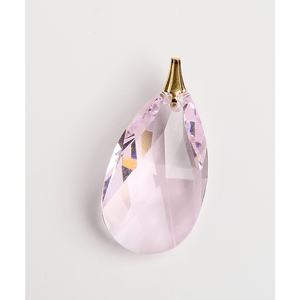 Pandantiv roz cu elemente Swarovski