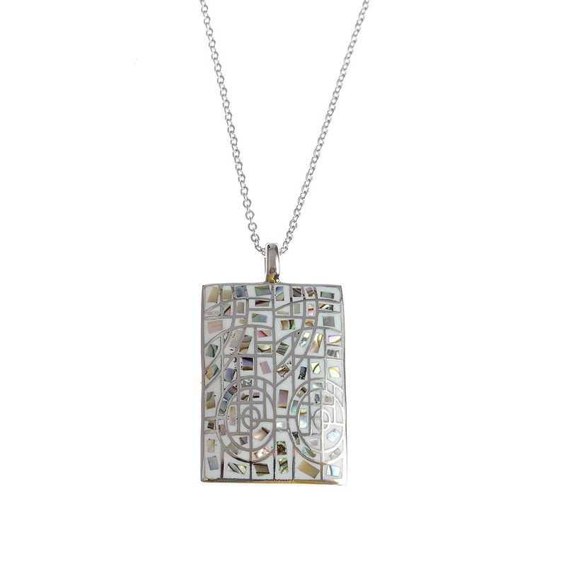 Colier-otel-medalion-mozaic