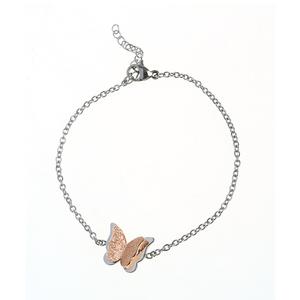 Bratara otel pandantiv fluture