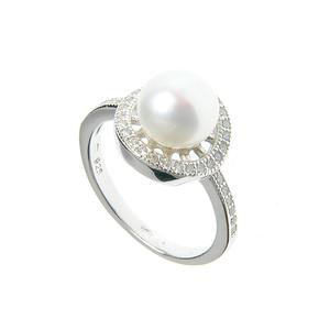 Inel argint cu perla acrilica