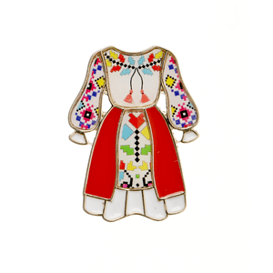 Brosa costum popular feminin