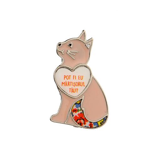 Brosa, pisica roz