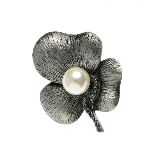 Brosa, floare gri