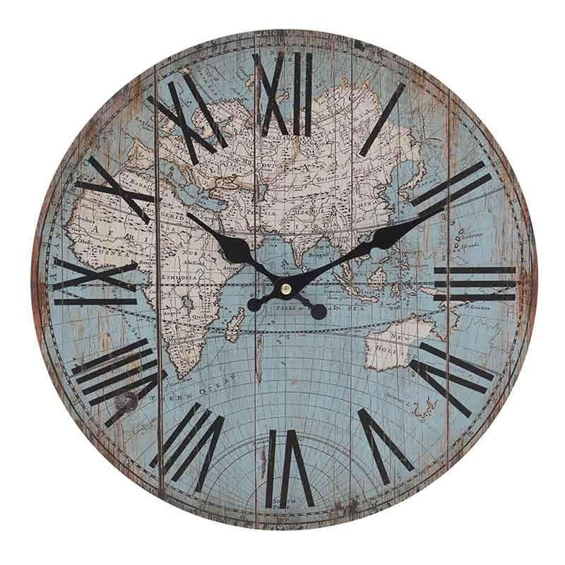 Ceas-de-perete-harta-lumii