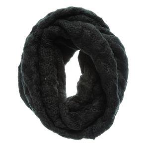 Fular negru circular impletit