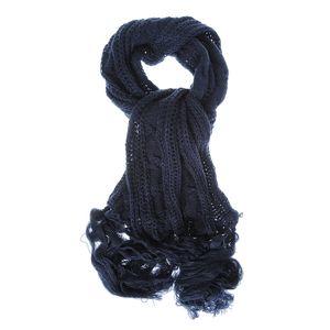 Fular tricotat bleumarin lung