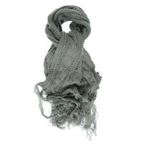 Fular tricotat gri lung