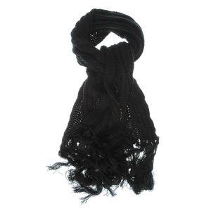 Fular tricotat negru lung