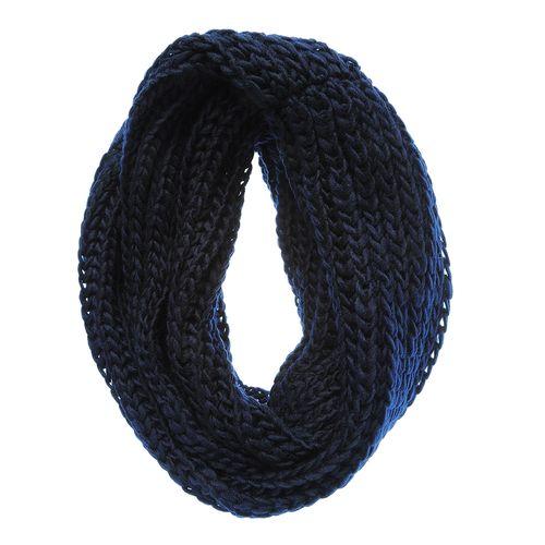 Fular circular bleumarin, pufos