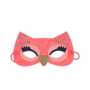 Masca pentru copii bufnita roz