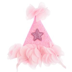 Bentita roz coif cu steluta