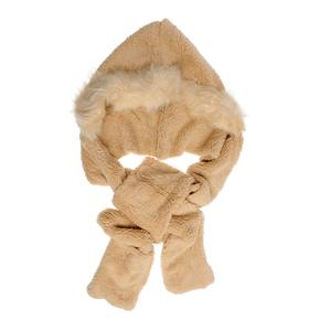 Caciula calduroasa cu blana si fular