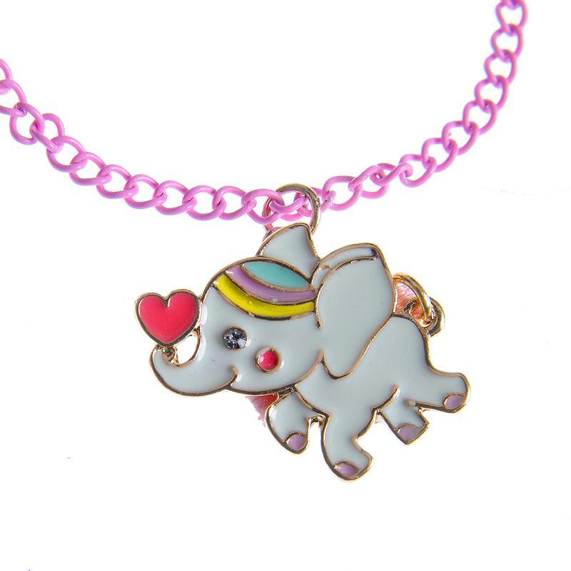 Bratara-roz-cu-pandantiv-elefant