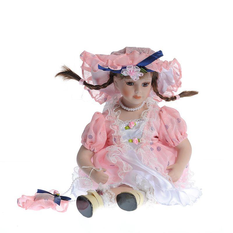 Papusa-portelan-cu-rochita-roz