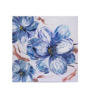 Tablou cu flori albastre
