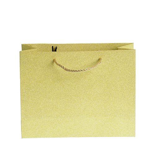 Punga de cadou auriu cu sclipici