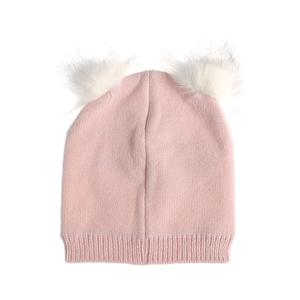 Caciula roz cu moturi blana eco