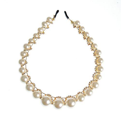 Bentita festiva, cu perle acrilice