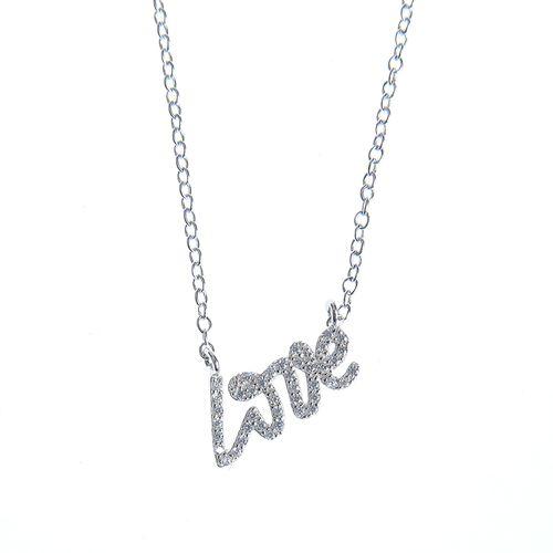 Colier argint LOVE