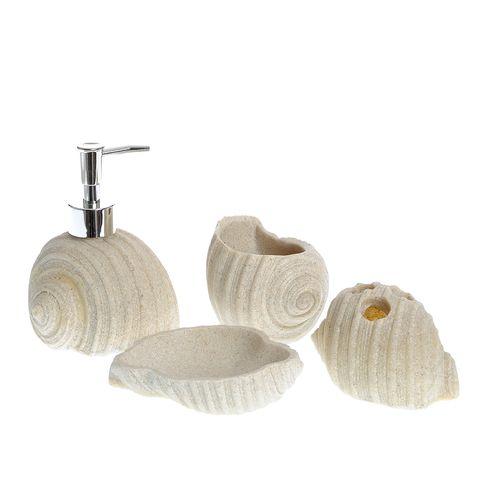Set 3 piese accesorii baie, model scoici