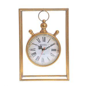 Ceas auriu cu rama metalica