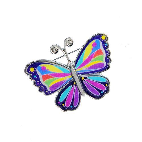 Brosa, fluture mic multicolor