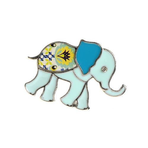 Brosa martisor, elefant bleu