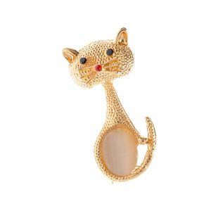 Brosa eleganta pisica aurie