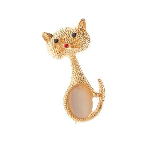 Brosa eleganta, pisica aurie
