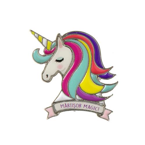 Brosa , martisor unicorn