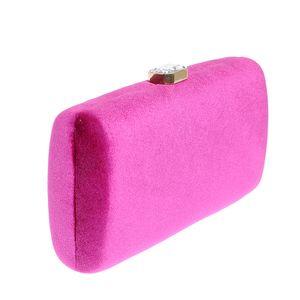 Clutch catifelat roz