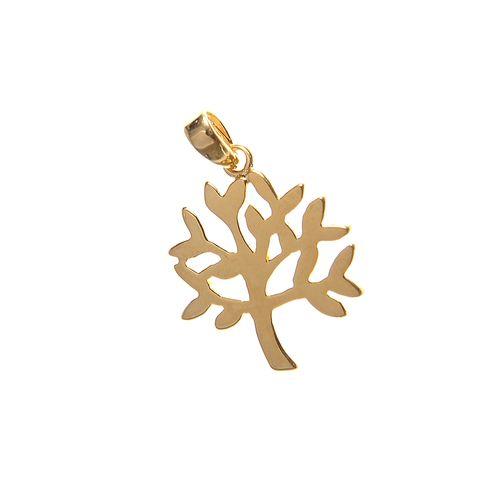 Pandantiv placat cu aur, copac inflorit