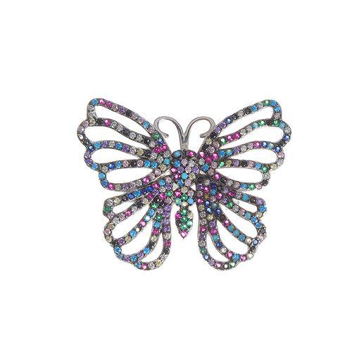 Brosa argint, fluture elegant