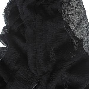 Esarfa neagra material creponat