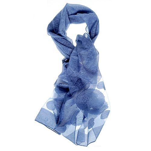 Esarfa albastra, imprimeu devore