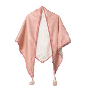 Poncho roz imblanit