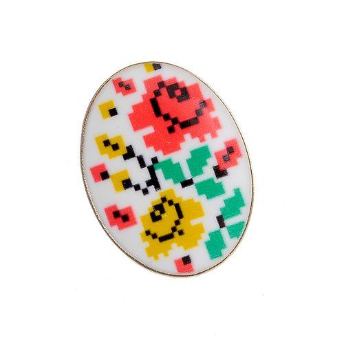Brosa ovala, print floral