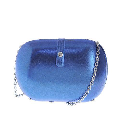 Clutch albastru metalizat