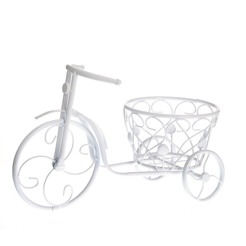 Suport-pentru-ghiveci-bicicleta-alba