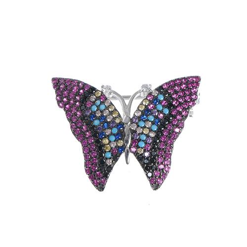 Brosa martisor, fluture argint
