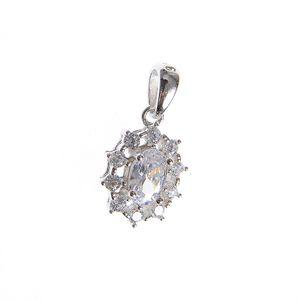 Pandantiv argint floare ovala